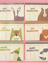 Candy Color Animals Cute/Business/Multifunction Paper Notepads Creative Notebooks Weekly Plan