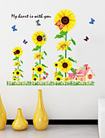 Wall Stickers Wall Decals Style Sunflower PVC Wall Stickers