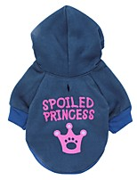 katten / honden Hoodies / T-shirt / Kleding / Kleding Blauw Lente/Herfst Tiara's & Kronen Modieus-Pething®