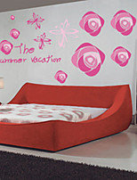 Wall Stickers Wall Decals Style Rose Flower And Butterfly PVC Wall Stickers