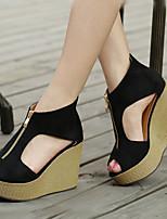 Women's Shoes  Wedge Heel Wedges/Heels/Platform/Comfort/Open Toe Sandals Casual Black/Gray