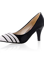 Women's Shoes Cone Heel Comfort / Pointed Toe Heels Outdoor / Office & Career / Dress / Casual Black / White