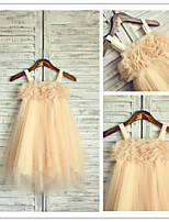 Flower Girl Dress - A-line Longueur mollet Sans manches Mousseline polyester/Tulle