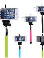 pôle extensible selfie poche monopode titulaire de bâton pour l'iphone 5 / 5s / 6 (couleurs assorties)