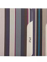 cas de toile de motif de rayure de 9,7 pouces avec support pour iPad 2/3/4
