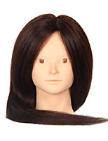Synthetic Hair Mixed Animal Salon Female Mannequin Head No Make-up