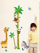 Wall Stickers Wall Decals Style Animal Measure Your Height PVC Wall Stickers