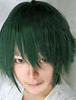 The New Cartoon Color Wig Green Face  Short Straight Hair Wigs