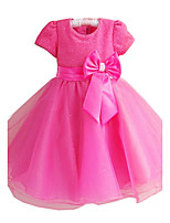 Fuchsia/Pink/White/Red Flower Girl Dresses Shine Lightly Dress Wedding Easter Bridesmaid For Baby Children Toddler Girls