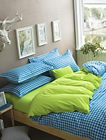 Blue/Green Polyester King Duvet Cover Sets