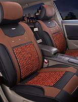cuero verano perlas de madera 6 piezas establecen todas las estaciones de asiento de coche ajuste universal en general cubre asiento de