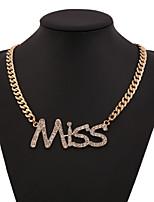 Women's Alloy/Rhinestone Necklace With Rhinestone