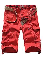 Men's Casual/Sport/Plus Sizes Pure Shorts Pants (Cotton)