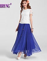 LOCHIRY®Women's Vintage/Bodycon/Beach/Casual/Cute Micro-elastic Thin Maxi Skirts (Spandex/Polyester)