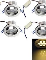 Lampes Encastrées Décorative Blanc Chaud YouOKLight 4 pièces Encastrée Moderne 7W 7 LED Haute Puissance 650 LM AC 85-265 V