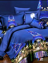 Lai Of Cosette's Creative 3 d Fashion Bedding Four Sets Of Paris At Night