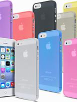 Pour Coque iPhone 5 Ultrafine Dépoli Translucide Coque Coque Arrière Coque Couleur Pleine Dur Polycarbonate pour iPhone SE/5s/5