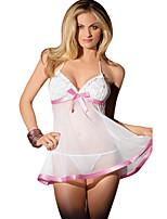 Sexy Lingerie Babydoll Women's Underwear Dresses Sleepwear Sheer Lace Bra G-string 2935