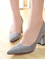 Women's Shoes  Chunky Heel Comfort/Pointed Toe/Closed Toe Pumps/Heels Dress/Casual Black/Pink/Gray