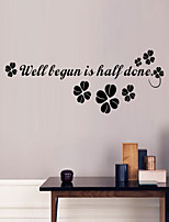 Wall Stickers Wall Decals Style Clover PVC Wall Stickers