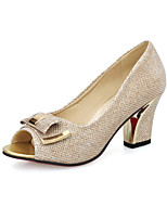Women's Heels Spring Summer Comfort Leatherette Dress Casual Chunky Heel Buckle Blushing Pink Silver Gold Walking