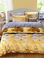 3d padrão de design impresso cama conjuntos 4pcs conjuntos de cachecol queen size lençol de capa de edredon