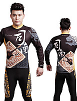 Coolchange Men's Long Sleeve Spring/Autumn Cycling Compression Suits Pants