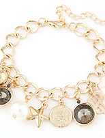 Women's Fashion Trend Wild Metal Coin Pendant Star Alloy Charm Bracelet
