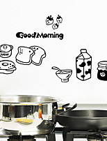 Wall Stickers Wall Decals Style Bread And Milk PVC Wall Stickers