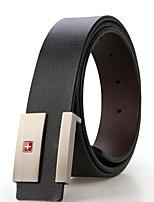 SWISSGEAR® Vintage Full Grain 100% Leather Distressed Style Snap on Belt Strap 1 1/2
