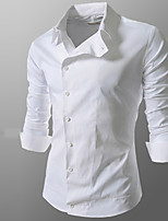 Maimi Men's Casual/Work/Formal Pure Long Sleeve Regular Shirts (Polyester)