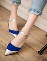 Women's Shoes  Kitten Heel Pointed Toe Pumps/Heels Office & Career/Dress Black/Blue/Pink