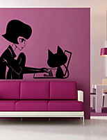 Wall Stickers Wall Decals Style Miss Puff PVC Wall Stickers