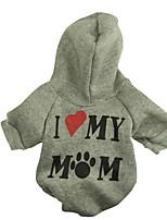 katten / honden Hoodies / T-shirt Wit / Groen / Blauw / Roze / Grijs Lente/Herfst Letter & Nummer Modieus, Dog Clothes / Dog Clothing-