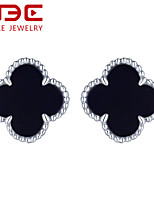 NBE Sterling Silver/Agate Earring Stud Earrings Wedding/Party/Daily/Casual 1pair