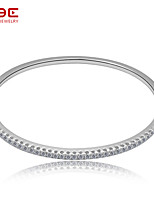 NBE Sterling Silver/Zircon Bracelet Bangles/Cuff Bracelets Wedding/Party/Daily/Casual 1pc