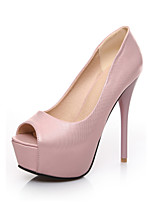 Women's Shoes  Stiletto Heel Peep Toe Sandals Party & Evening/Dress Pink/White/Beige