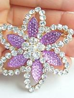 Women Accessories Gold-tone Rhinestone Crystal Flower Brooch Art Deco Brooch Bouquet Women Jewelry