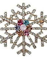 Snowflake diamond brooch brooch colored scarf buckle dual-use