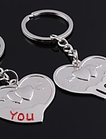 Wedding Keychain Favor [ Pack of 2Piece ] Non-personalised with Couples An Arrow Through A Heart Key Ring