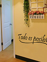 Wall Stickers Wall Decals Style Todo Es Posible English Words & Quotes PVC Wall Stickers
