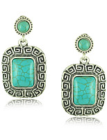 Drop Earrings Women's Alloy Earring Turquoise