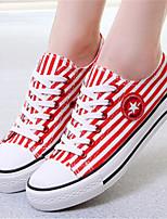 Scarpe Donna - Sneakers alla moda - Casual - Punta arrotondata - Piatto - Di corda - Nero / Blu / Rosso