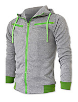 High Quality 2015 New Zipper Men Hooded Jacket Hot Sell