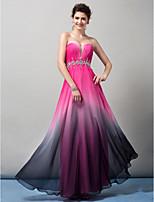 hemkomst ts couture formell aftonklänning - mantel / kolumn älskling golv längd chiffong
