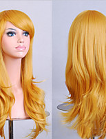 70 cm Long Curly Golden Hair Air Volume High Temperature Silk Wig