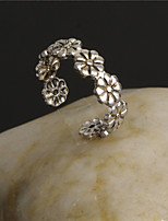Retro Engraving Flower Ring(Old Silver)(1Pc)