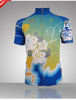100% Polyester Fiber Short Sleeve Breathable+Quick-Drying Women Cycling Jersey