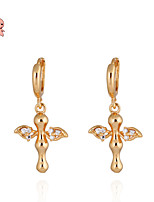 KuNiu Women's Vintage 18K Gold Plated Elegant Shiny Drop Earrings ER0187