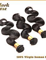 Black Rose Brazilian body wave hair bundles, 3pcs Brazilian virgin hair, Brazilian unprocessed human hair weaves